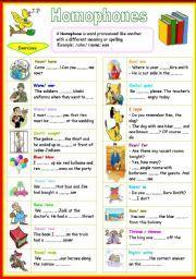 english worksheet homophones word work grammar punctuation grammar worksheets worksheets. Black Bedroom Furniture Sets. Home Design Ideas