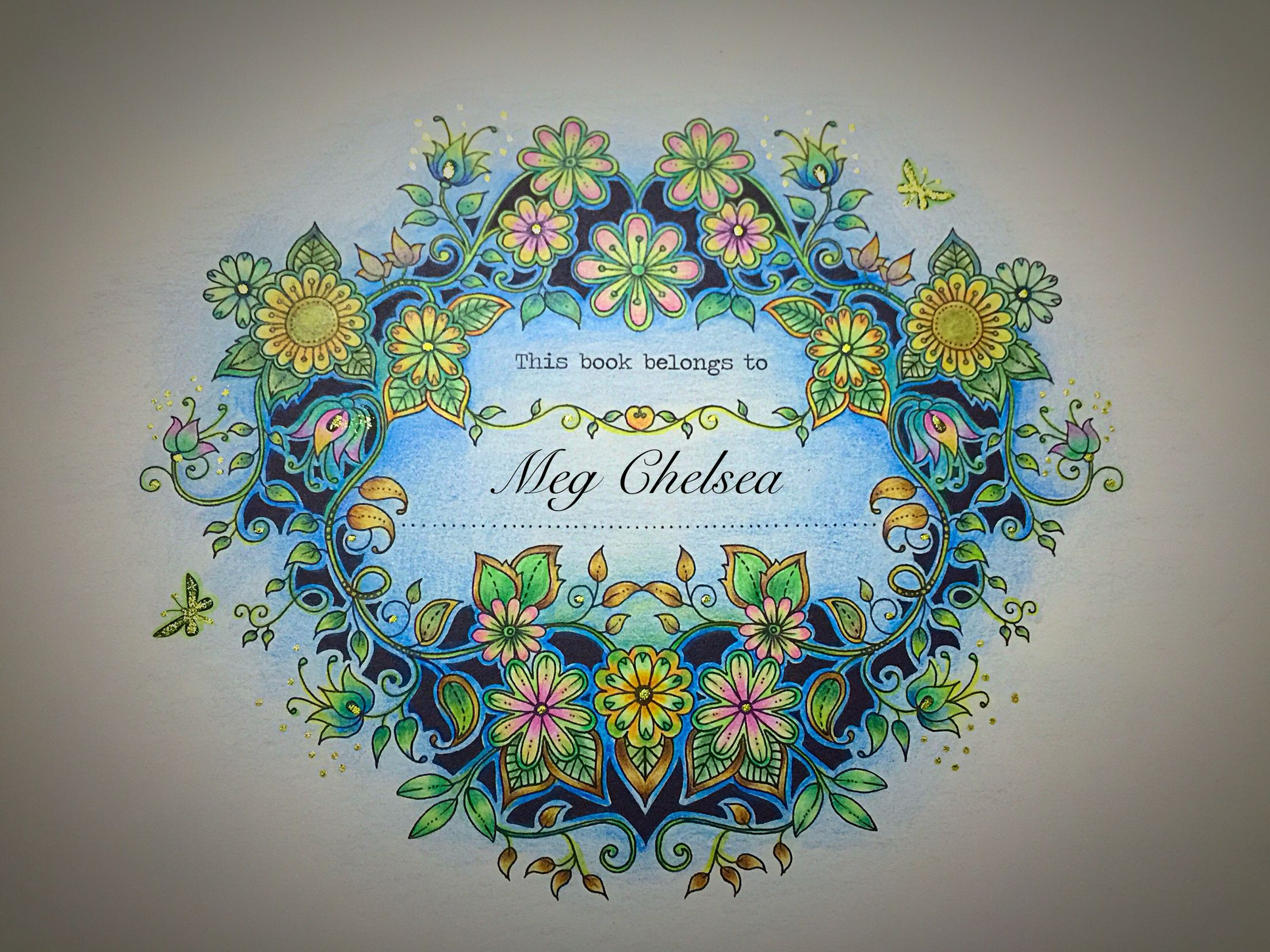 3 My Secret Garden Colouring Book Johanna Basford Colouring