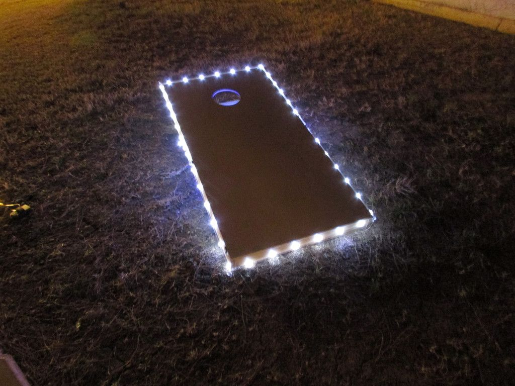 these led cornhole lights wrap around the edge of your boards to keep your games going past sunset order these proglow cornhole board lights online today - Cornhole Boards For Sale