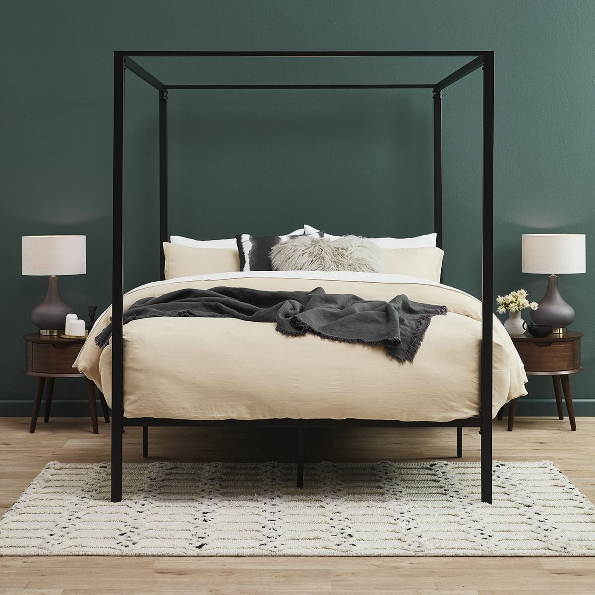 Make a statement in your bedroom with this four poster bed
