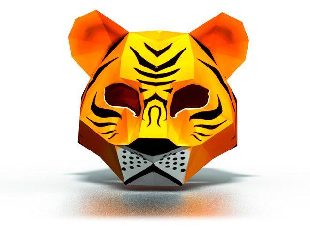 Тигр из бумаги сделать своими руками