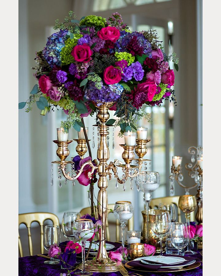 Jewel Tone Wedding Flowers: Indian Wedding Centerpieces
