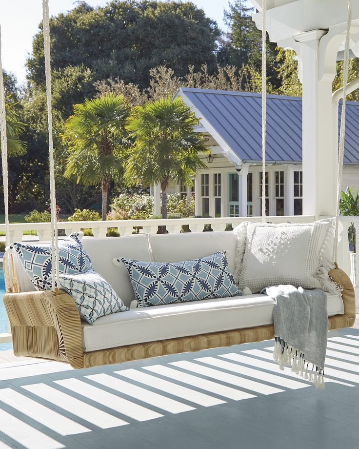 Springwood Hanging Daybed in 2020 | Decor, Outdoor ... on Living Spaces Outdoor Daybed id=80131