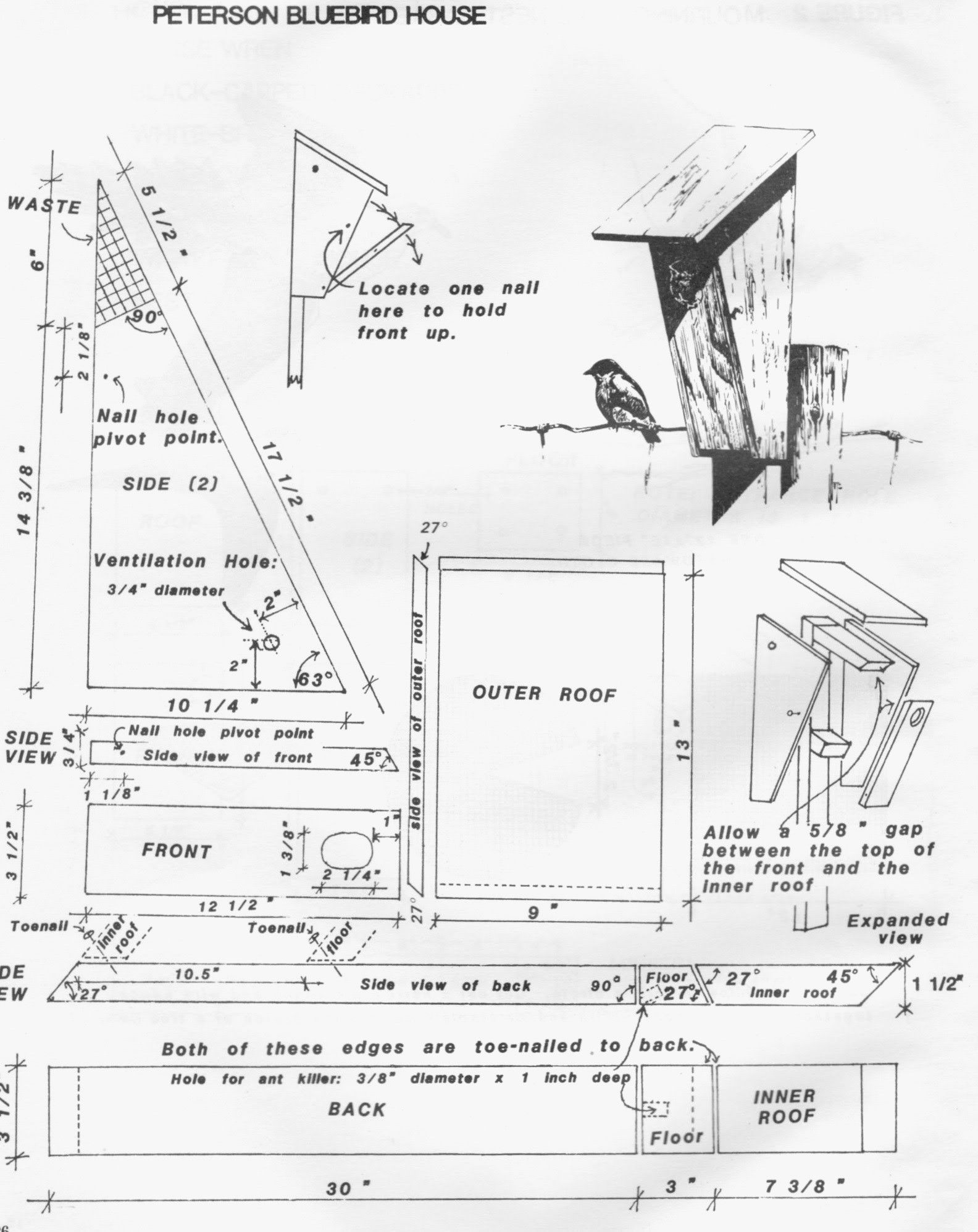 Free Birdhouse Plans For Cardinals Best Of Cardinal Bird House Plans Bluebird House Plans Bird House Plans Free Bird House Plans