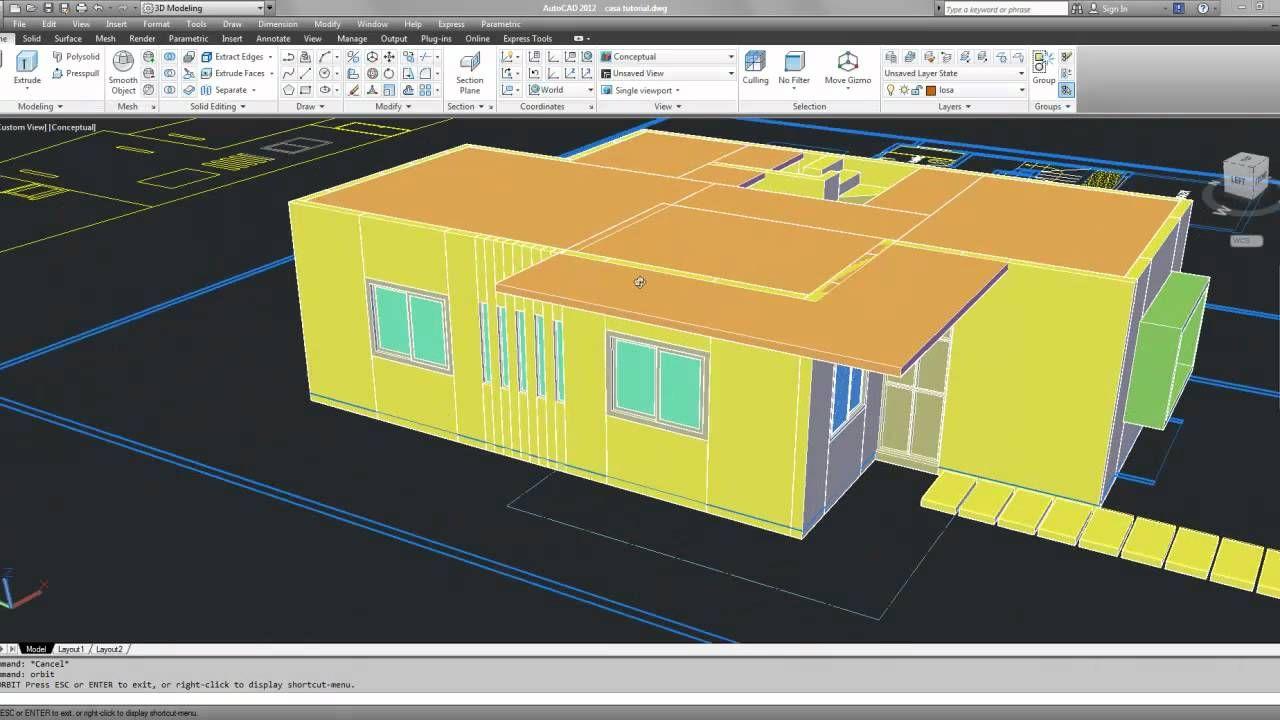 Modelado de una casa en autocad 3d 1 de 2 tutoriales autocad modelado de una casa en autocad 3d 1 de 2 tutoriales autocad pinterest autocad baditri Images