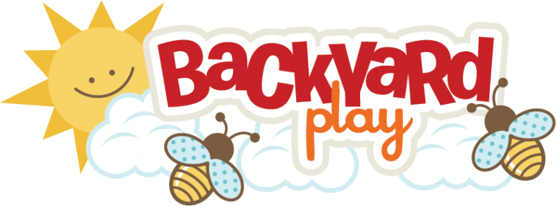 Backyard Play SVG scrapbook title bee svg file playing in