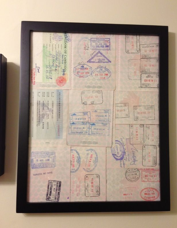 Passport Art. Try this! Showcase your old stamps and expired visas ...