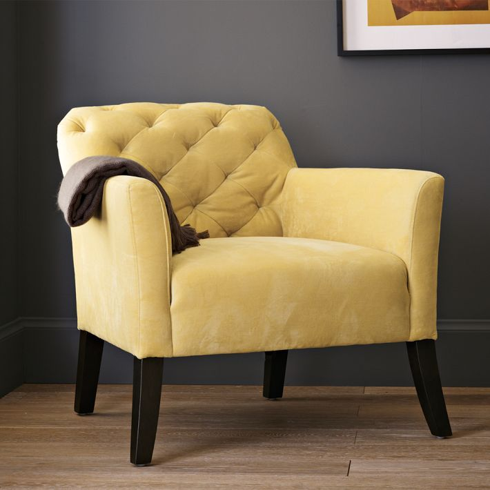 Yellow Bedroom Chair Hanging Cocoon Ikea Elton Chairs Accent Home Detailed View Performance Velvet Dandelion
