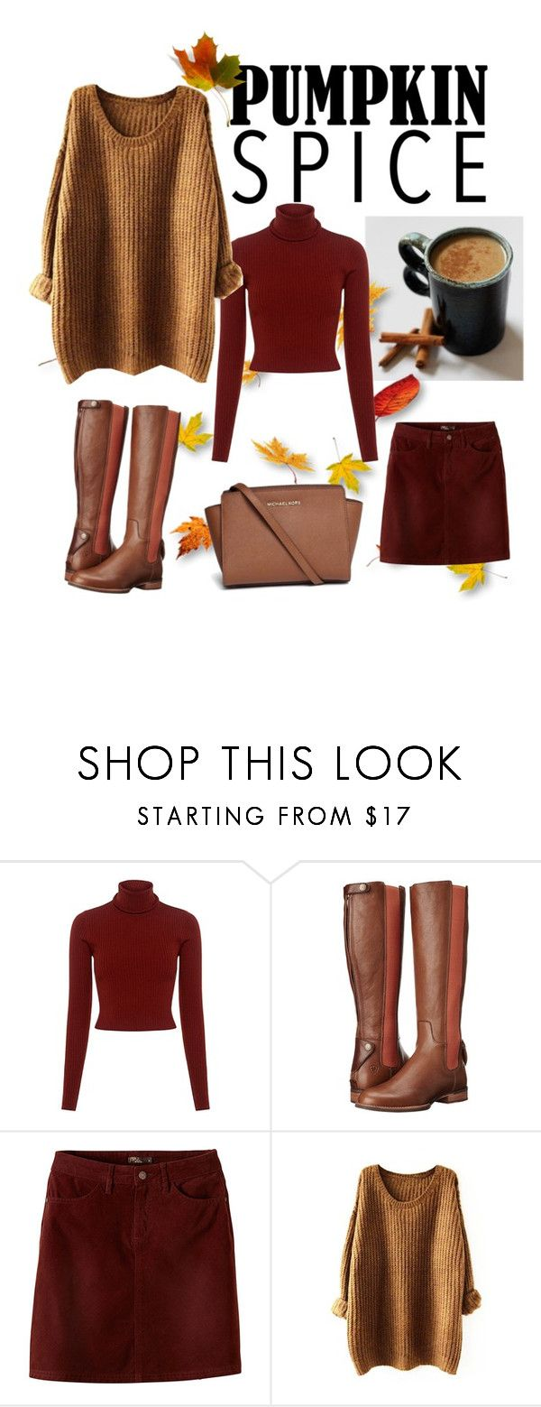 """Pumpkin Spice Latte"" by tamiryu ❤ liked on Polyvore featuring A.L.C., Ariat, prAna and Michael Kors"