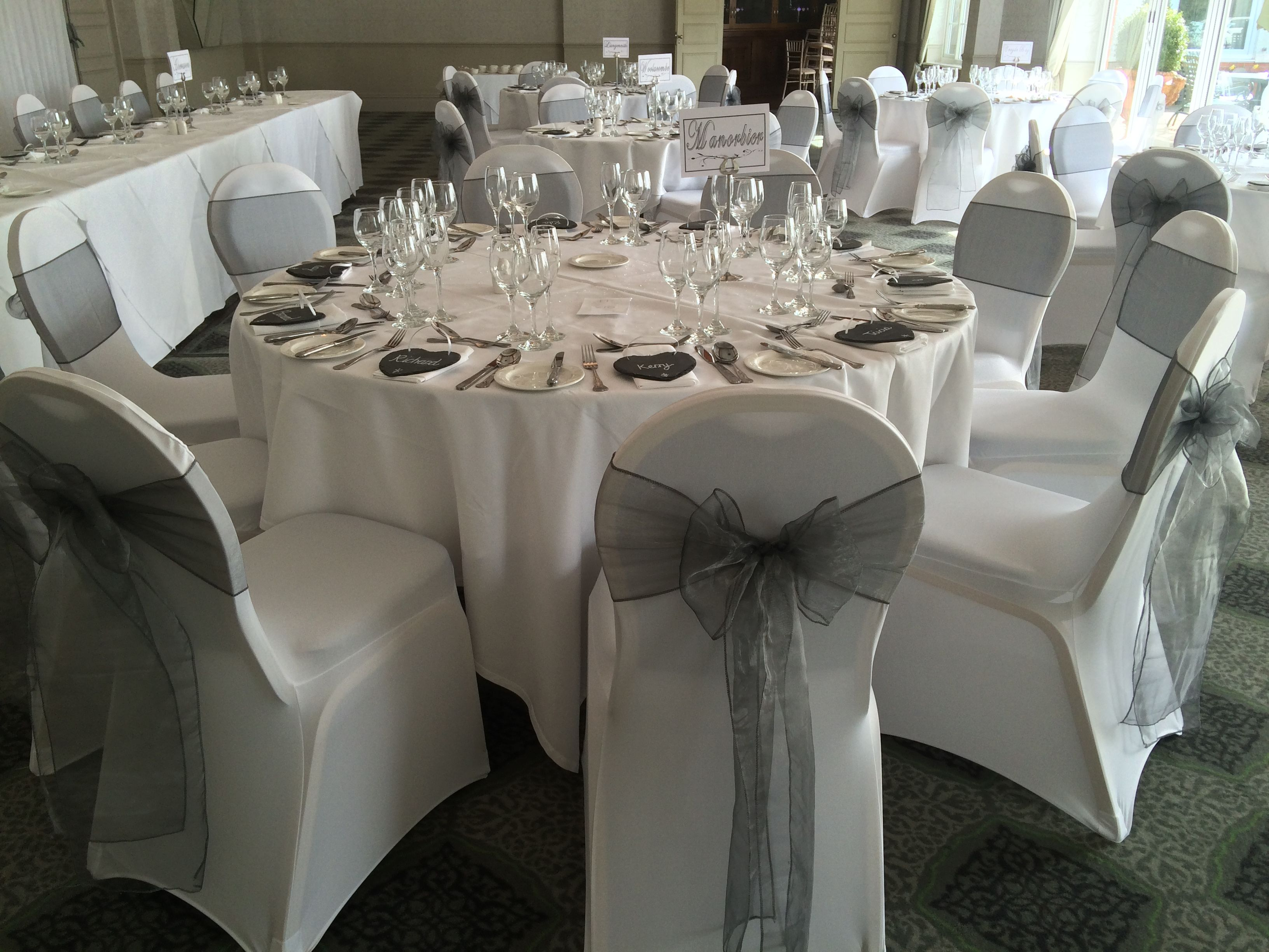 Chair Covers With Silver Grey Sashes In South Wales By Www