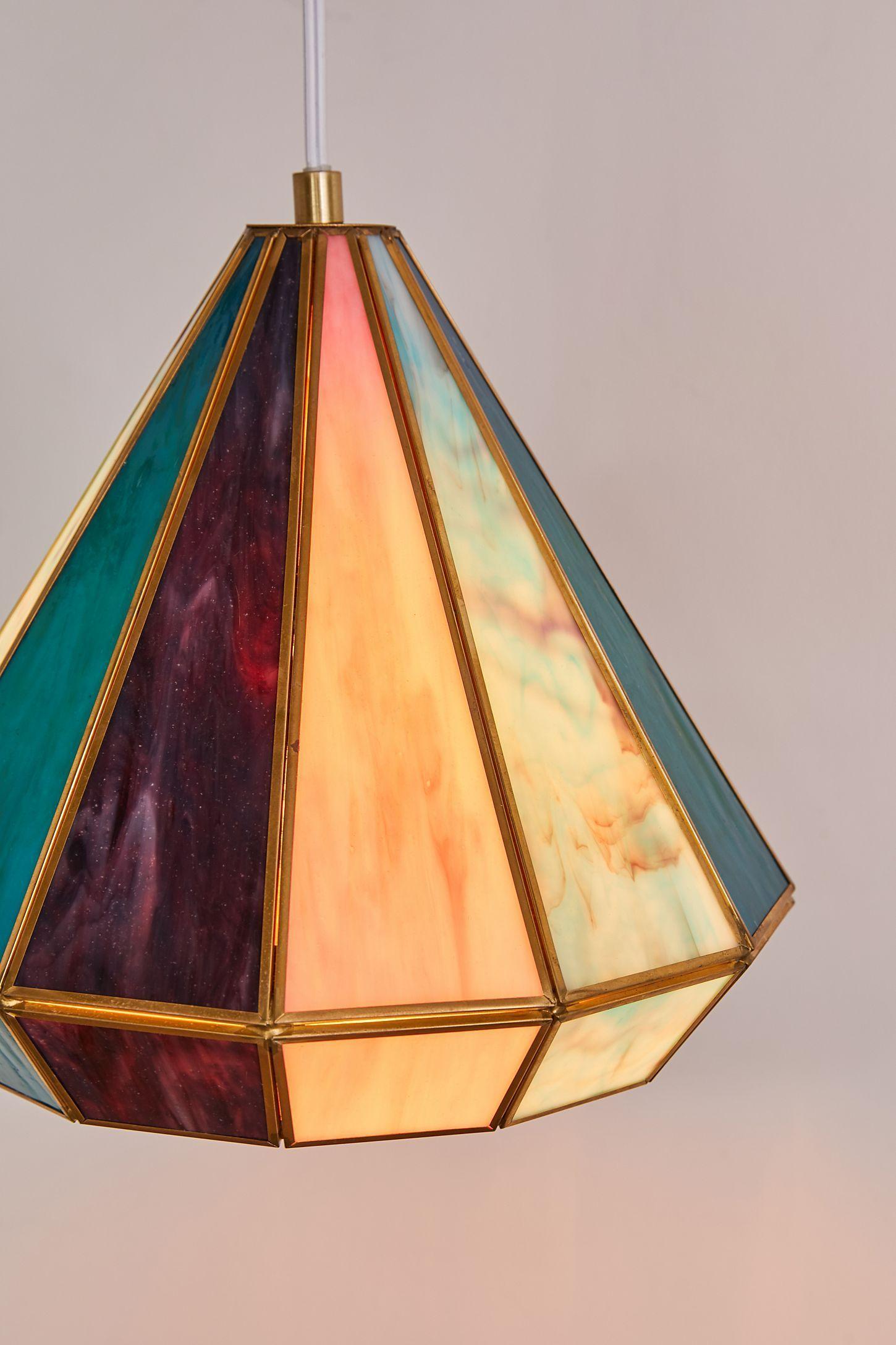 Gabriella Stained Glass Pendant Light Urban Outfitters Stained Glass Lamp Shades Stained Glass Pendant Light Glass Pendant Light