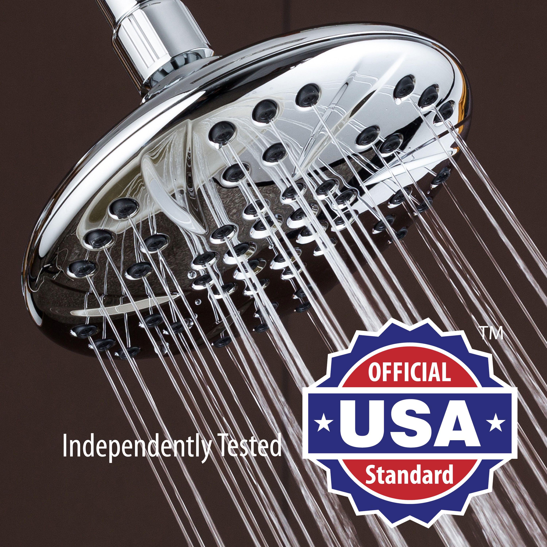 Aquadance Premium Plus High Pressure 6 Inch Rainfall Shower Head