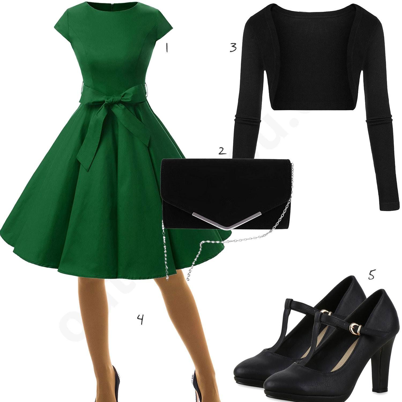 Elegantes Damenoutfit mit Kleid, Bolero und Pumps | Elegante outfits ...
