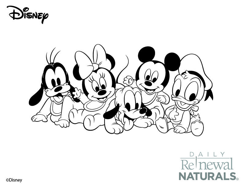 Baby Mickey Mouse Coloring Pages | Dot Peeps | Coloring Pages for ...