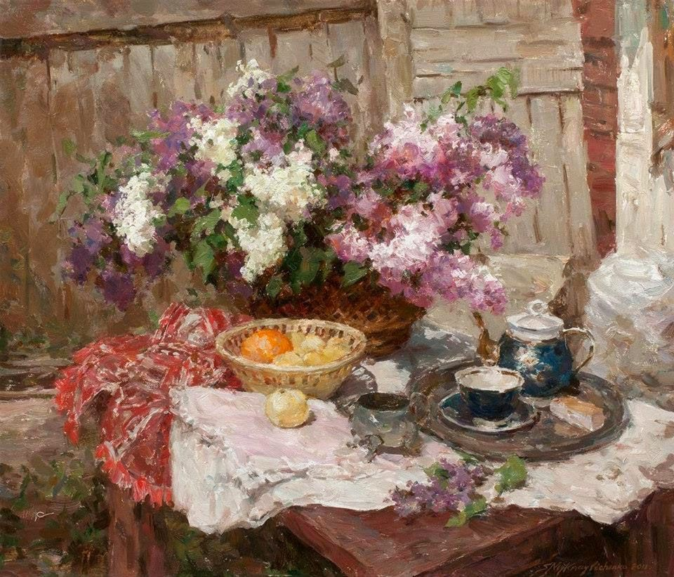 Alexei Khlebnikov / Алексей Хлебников ~ Still Life of Flowers painter | Tutt'Art@ | Pittura * Scultura * Poesia * Musica |