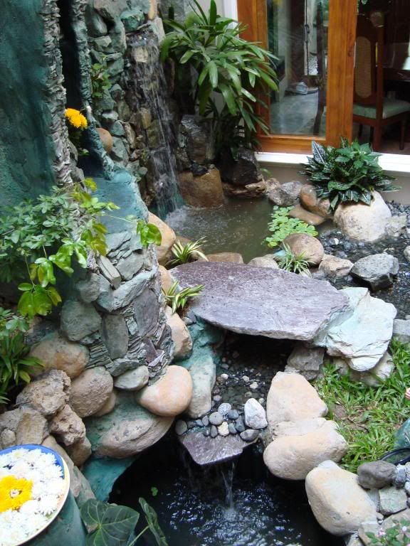 An Indoor Grotto Garden Pond Design
