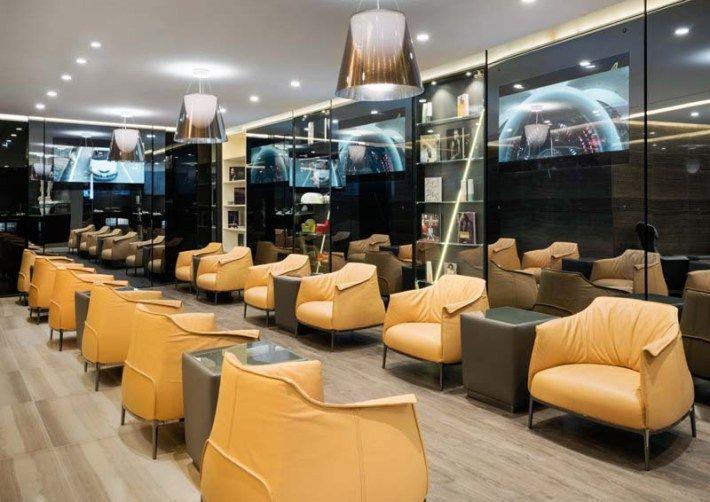 Casa alitalia business class lounge rome lounge for Case vip roma