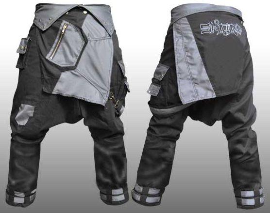 Cyberpunk Sarouel Pants | Men's Future Fashion