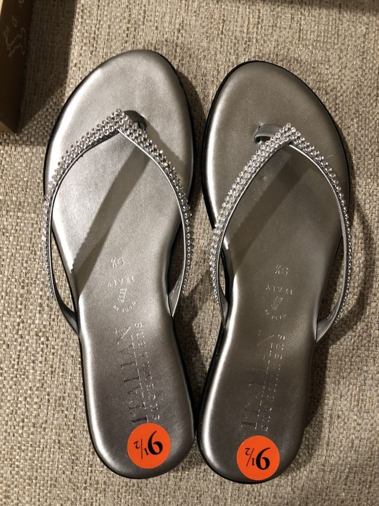 d83965c5a NWT Italian Shoemakers Silver Sandals Bling Rhinestone Straps Sandals Size  9.5 #fashion #clothing #shoes #accessories #womensshoes #sandals (ebay link)