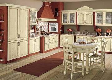 Arrex Le Cucine - Cucina in muratura in legno laccato bianco antico ...