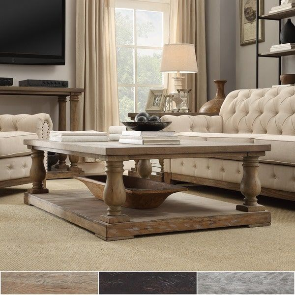 Edmaire Rustic Baluster 60 Inch Coffee Table By Inspire Q Artisan Coffee Table Pine Coffee Table Coffee Table Inspiration