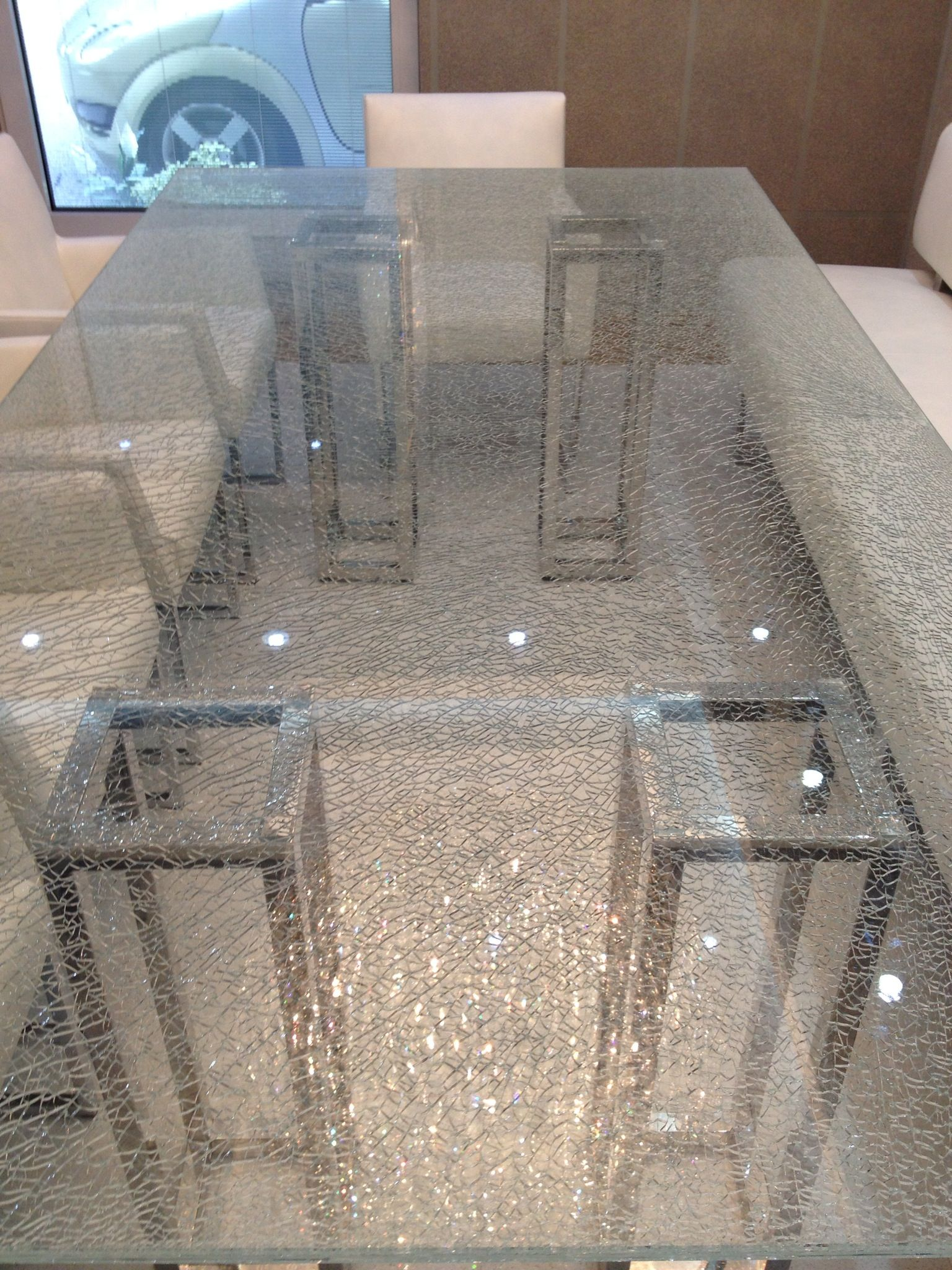 Glass table texture - This Laminated Glass Table Is Finished With A Cracked Ice Texture This Is Achieved By