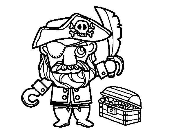 Disegno Di Pirata Con Tesoro Da Colorare Disegni Da Colorare Disegni Disegno Di Nave