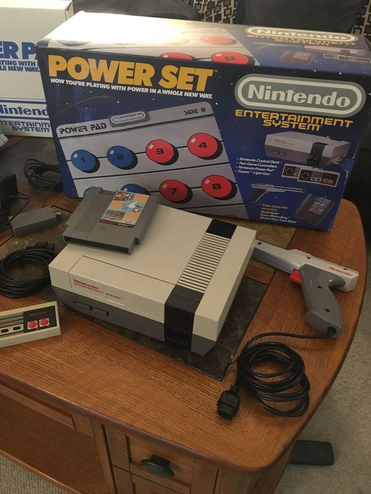 nintendo nes power set original box & styrofoam inserts