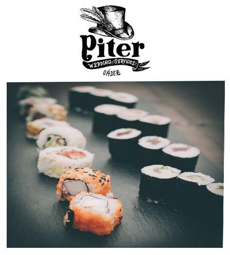 Una de las mejores propuestas en bodas es sorprender a tus invitados con un magnifico Buffet de #sushi , nos encanta. www.quienespiter.com