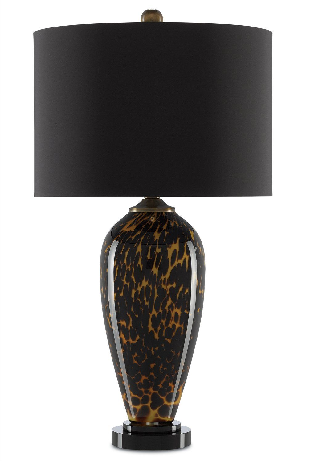 The Ninon Table Lamp From Currey And Company Showcases A Tortoise Shell Finish On Glass The Deep Orange That Spreads Along The Sur Lamp Table Lamp Modern Lamp