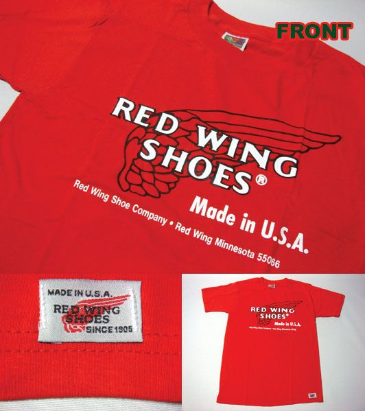 RED WING SHOES Red Wing dead stock short sleeve T shirt 03 | Casual