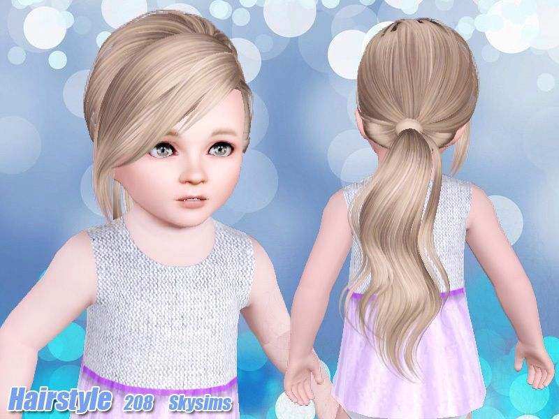 Skysims Hair Toddler 208k Sims4cc Sims 4 toddler