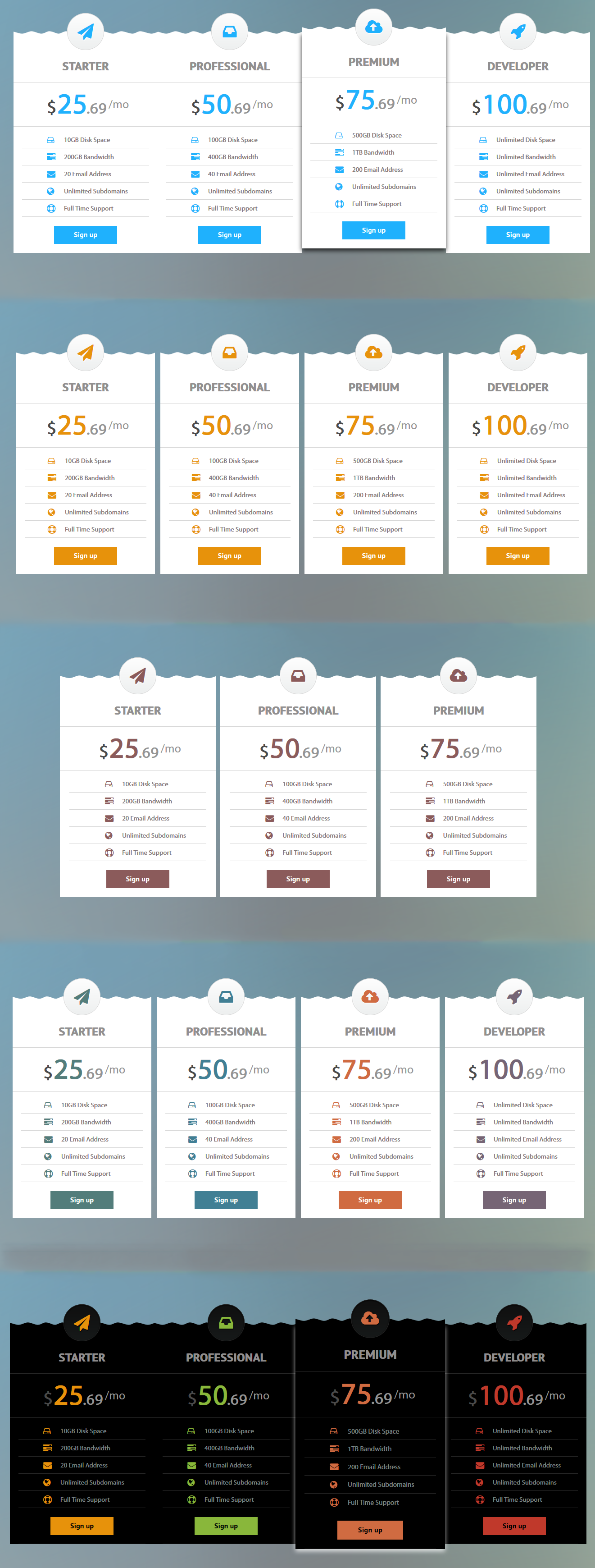 Clean Modern Pricing Table Clean modern, Pricing table