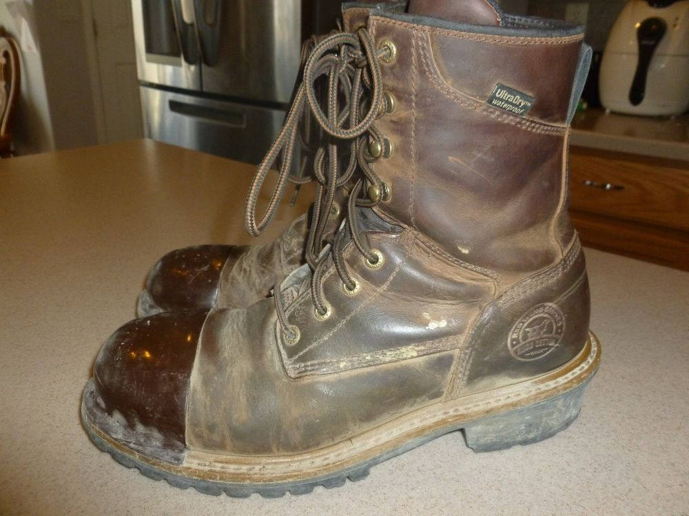ccf027f943c Red Wing Irish Setter Mens Work Boots Mesabi Steel Toe Shoes sz 10.5 ...