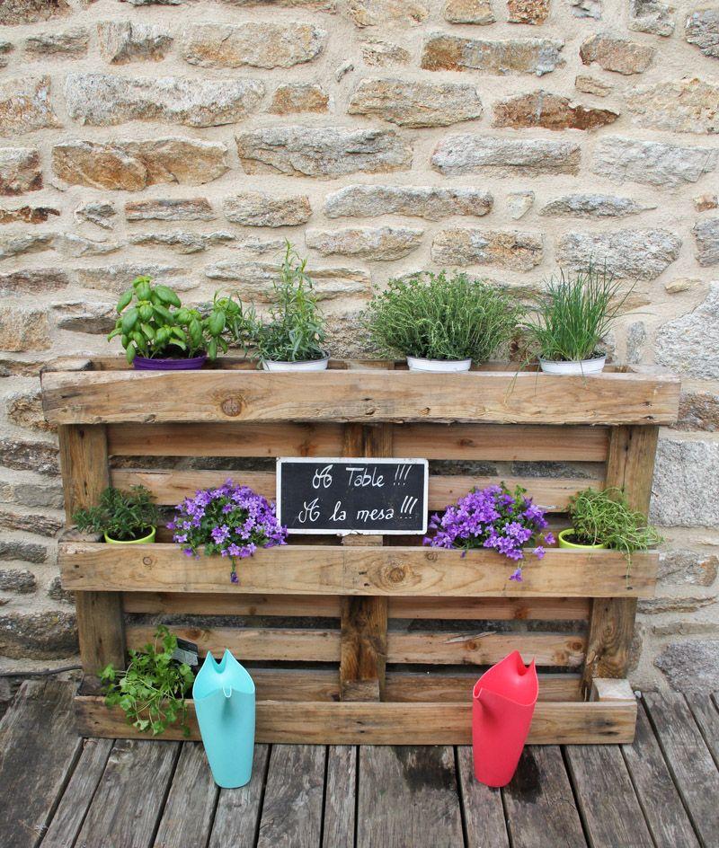 Diy 100 r cup palette jardini re via wonderfulbreizh for Recup palette jardin