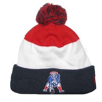 Patriots New Era Throwback Sideline Classic Knit Hat  b45107bc016