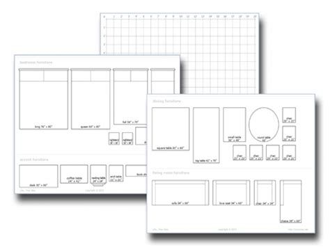 Living Room Layout Templates With
