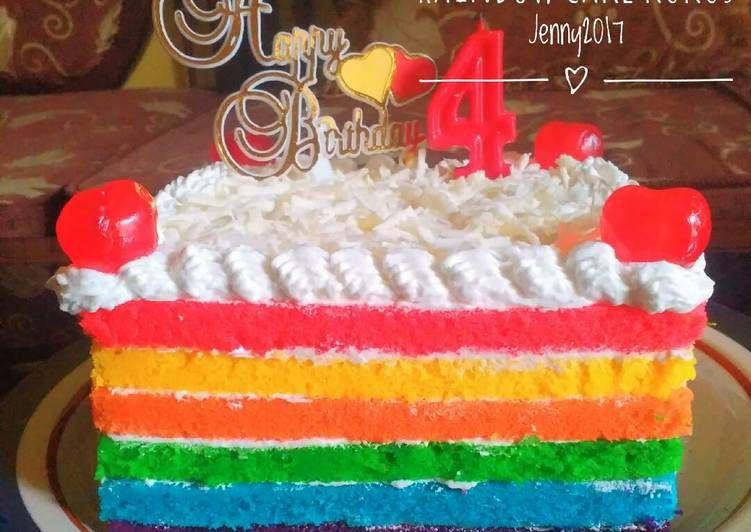Resep Birthday Cake Base Rainbow Kukus Ny Liem Oleh Jenny Resep Resep Kue Kue Resep