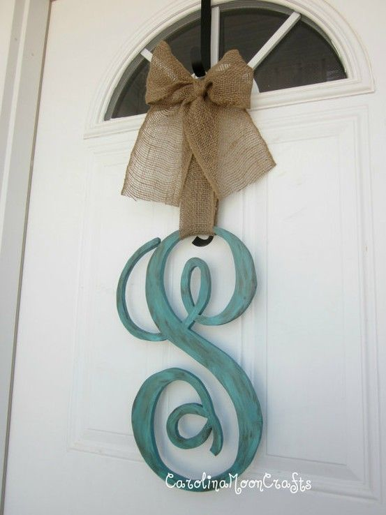 Big Wooden Letter Paint Ribbonso Easy Diy Home