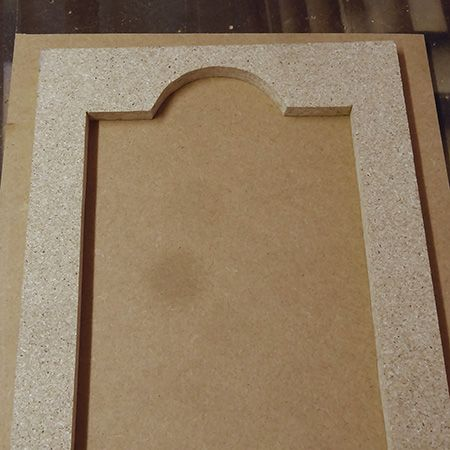 How To Route Decorative Pattern Or Design Into MDF Cabinet Or Cupboard Door  Make Jig Or Part 65