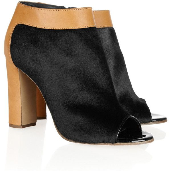 Chloé Leather Peep-toe Booties nicekicks cheap online 2015 cheap online cheap explore OhZRhecY