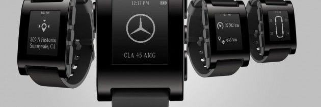 TECH: NEW!! Mercedes x Pebble teams for smartwatch!