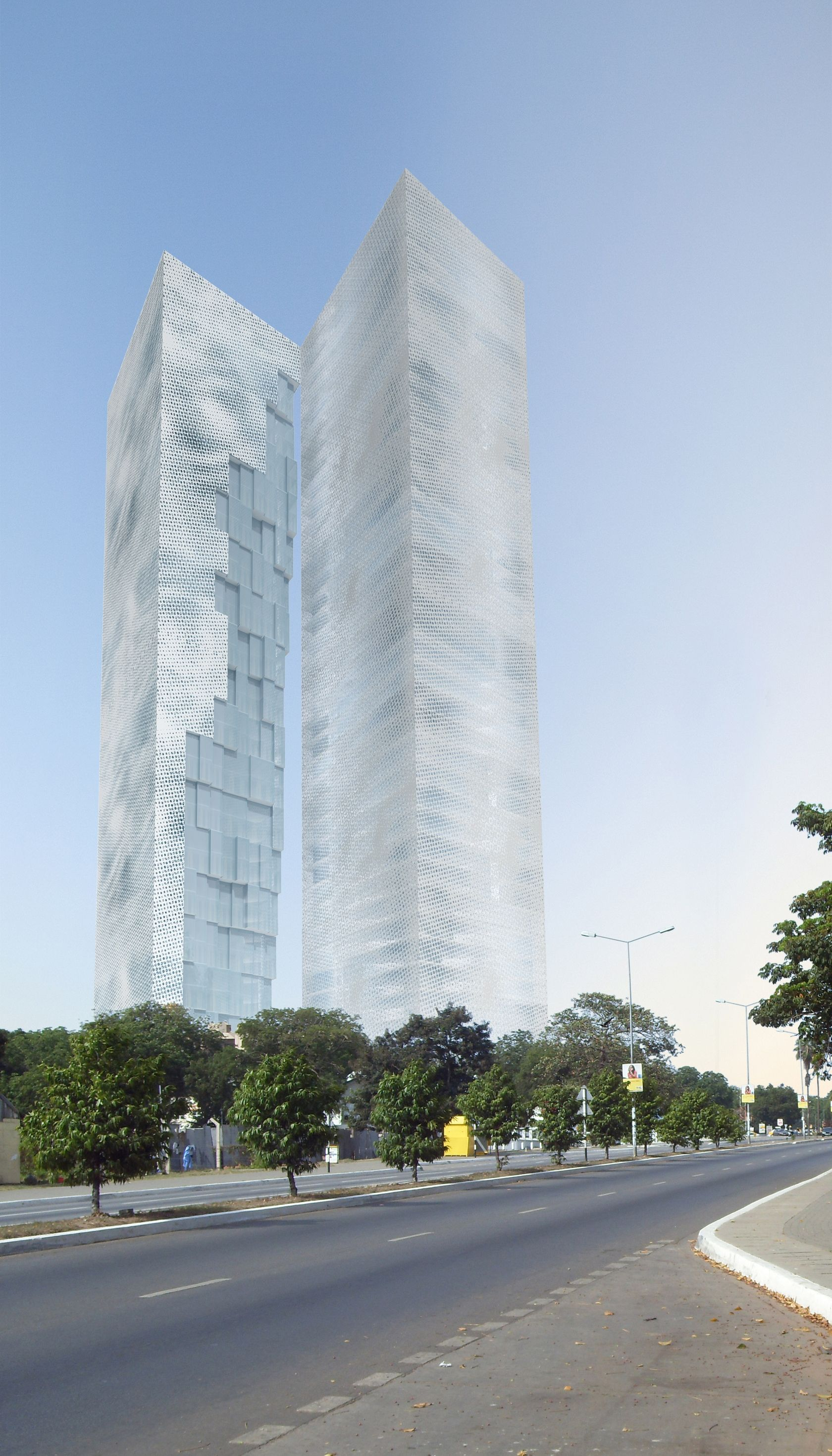 Accra Twin Towers  Architizer The Present Proposal Occupies A