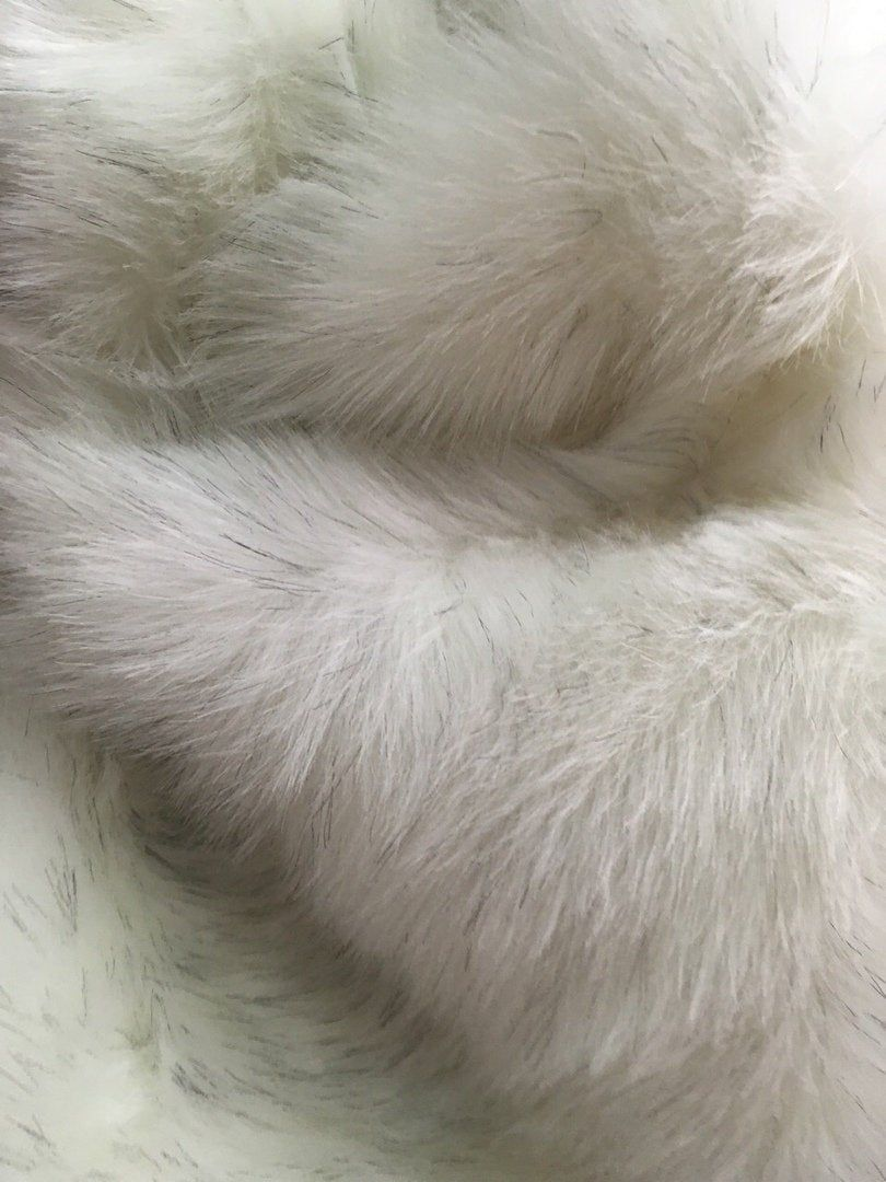 1 Yard White Sable Faux Long Pile Fur Fabric Toys Costumes Photography Width 59 150 Cm Fur Fabrics Fabric Toys Faux Fur Throw Blanket