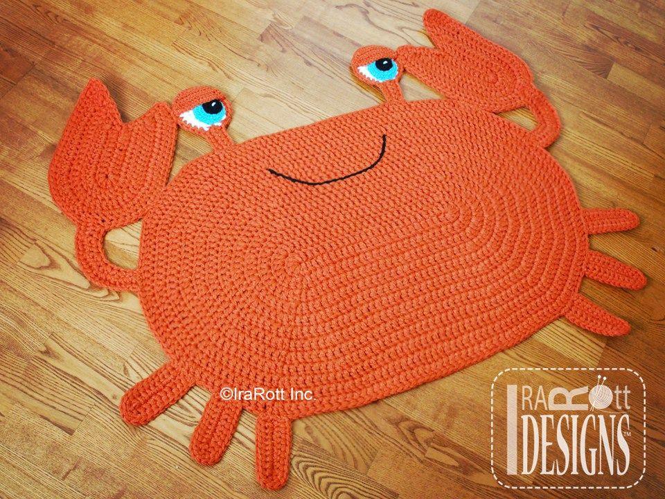 Cranky Crab Rug Nursery Mat Pdf Crochet Pattern Baby Blankets