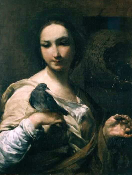 Image result for girl holding a dove renaissance painting