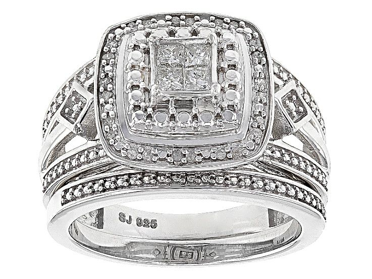 5a1b029e5 Rhodium Over Sterling Silver Diamond Ring .25ctw in 2019 | Products ...