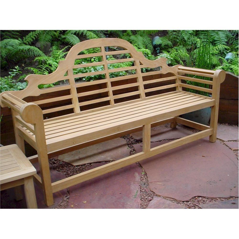 Anderson Teak Marlborough 3 Seater Bench Indoor Outdoor