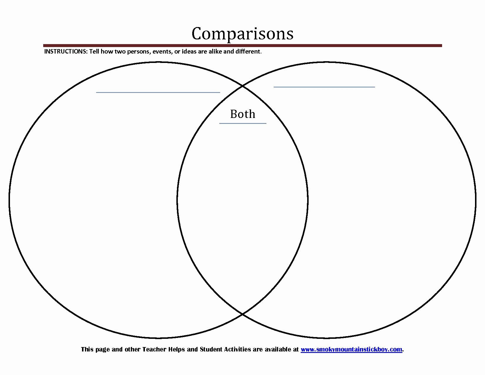 30 Venn Diagram To Print In
