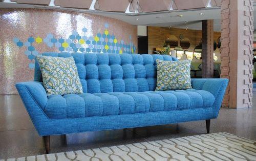 Custom Mid Century Modern Tufted Sofa Modern By WeLoveModern